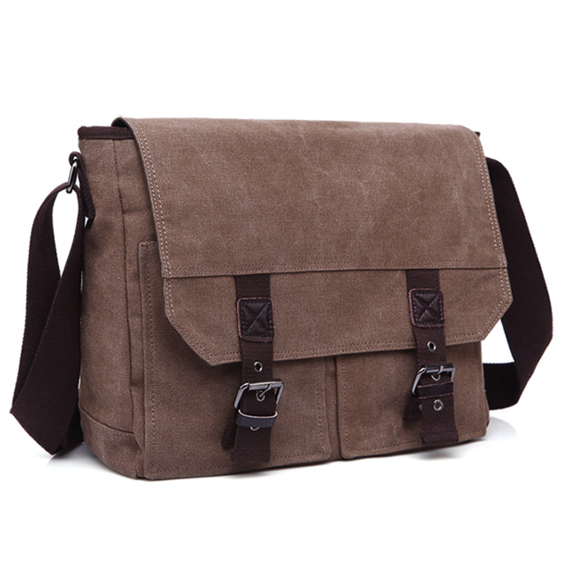 Vintage Canvas Casual Bag Men's Messenger Bag Satchel Crossbody Shoulder Bags Travel Zipper&Hasp Bag Style Design vintage canvas messenger bag high quality womens crossbody bags bend zipper design casual small flap tote bag
