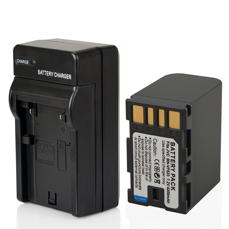 4200 mah Rechargeable Batterie De Remplacement BN-VF823 BN-VF823U BN-VF815 BN-VF808 Pour JVC GR-D775 MG255 D796 D725 D770 D740 HD7 D760