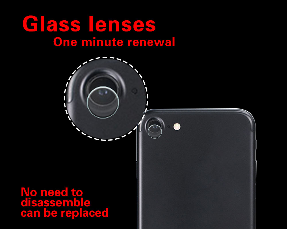 Anti-Scraches & Explosion Back Camera Lens Tempered Glass Film For Apple iPhone 8 A1863 Cell Phone Camera + Cleaning Clothes