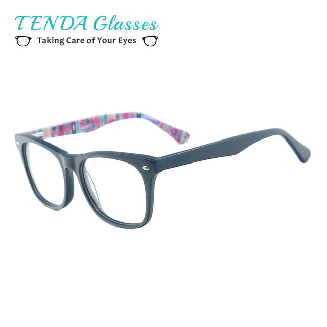 aa22bd5d2ca Fashion Men Women Prescription Glasses Frame Acetate Rectangular Spectacles  For Lenses Myopia Reading Multifocal
