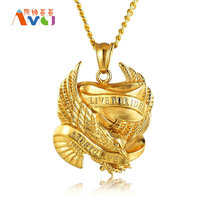 4 Styles Eagle Cup Pendant Necklace Letters Engrave Titanium Steel Jewelry Individuality Eagle Necklace Honor Award Gift For Men