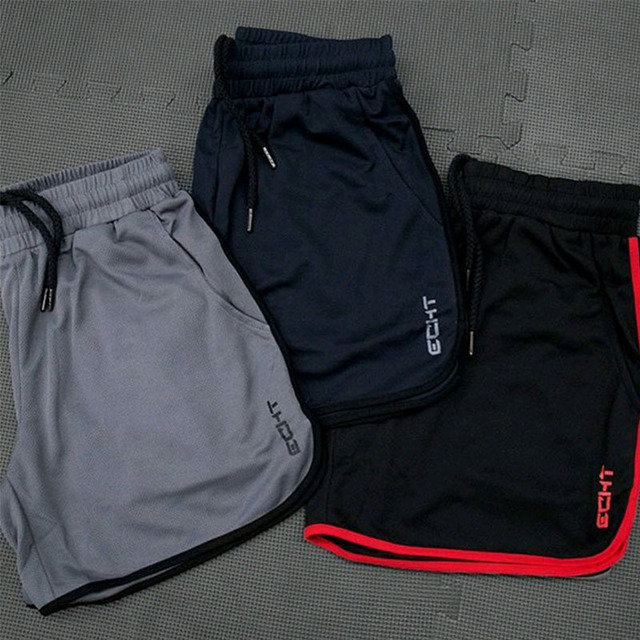 New Men Fitness Bodybuilding Shorts Man Summer  Workout Male Breathable Mesh Quick Dry Sportswear Jogger Beach Short Pants 2