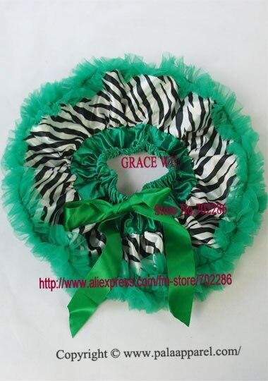 Детская юбка-пачка с рисунком зебры, крошечные юбки для новорожденных, Подарочная детская юбка-пачка - Цвет: green ruffled