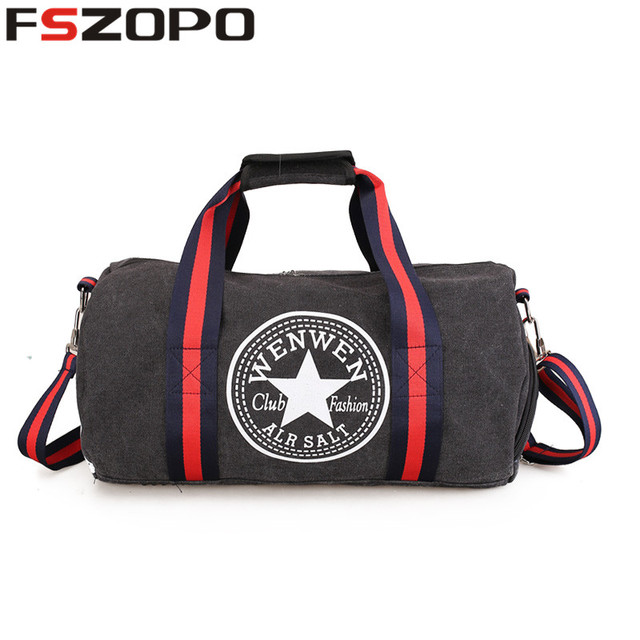 49fb0e4b6f Foldable Sports Duffel Gym Bag for Women Men with Shoe Compartment ...
