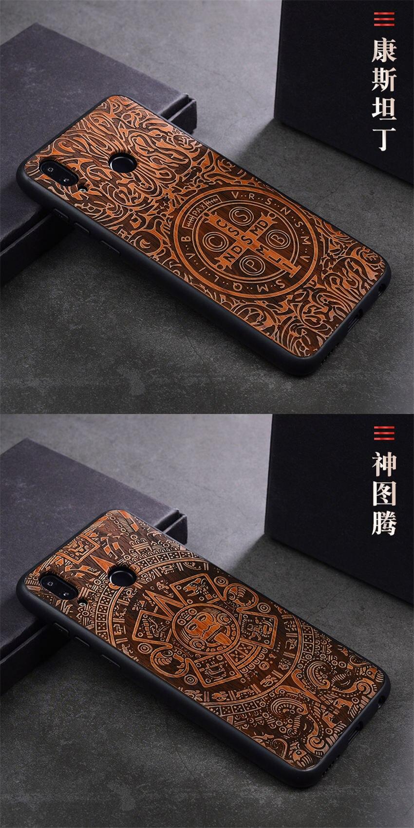 2018 New Huawei Honor 8x Case Slim Wood Back Cover TPU Bumper Case For Huawei Honor 8x Phone Cases Honor-8x (10)
