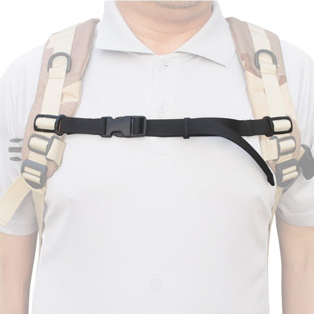 Adjustable Harness Chest Strap Sternum Backpack Accessories Webbing Outdoor Anti Slip With Whistle Buckled Nylon