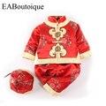 Мода Традиционный Китайский Одежда красивая вышивка ребенка-детский тан костюм снег износ ползунки набор для новорожденных девочек 1 компл.