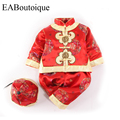 Fashion Traditional Chinese Clothing beautiful embroidery baby-snowsuit tang suit snow wear romper set for baby girls 1 set