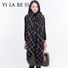New Brand 2016 Women Winter Warm Blanket Large Oversized Shawls and Scarves Lady Plaid Tartan Scarf Wrap Bufandas NM333