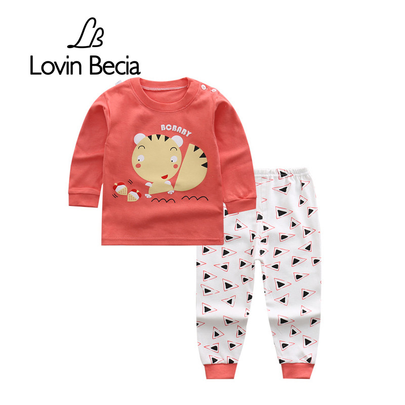Lovinbecia Autumn winter Animals Baby Clothes Kids Boys Cotton Long Sleeve tracksuits infant Girls warm Clothing Children Sets