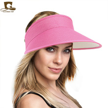 Women empty Top sun hat fashion Summer Style hemp cap Plastic Sun Visor Hat