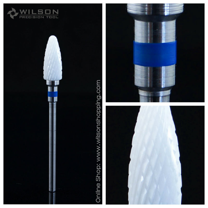 цены Bullet Shape - Medium - White Ceramic - (6400501) - WILSON Ceramic Nail Drill Bit & Zirconia Ceramic Dental Burs