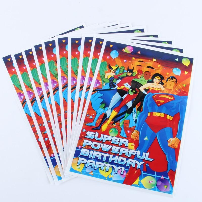 Kits-Supplies Loot-Bag Favors Happy-Birthday Superman Party-Decoration Hero Kid 50pcs