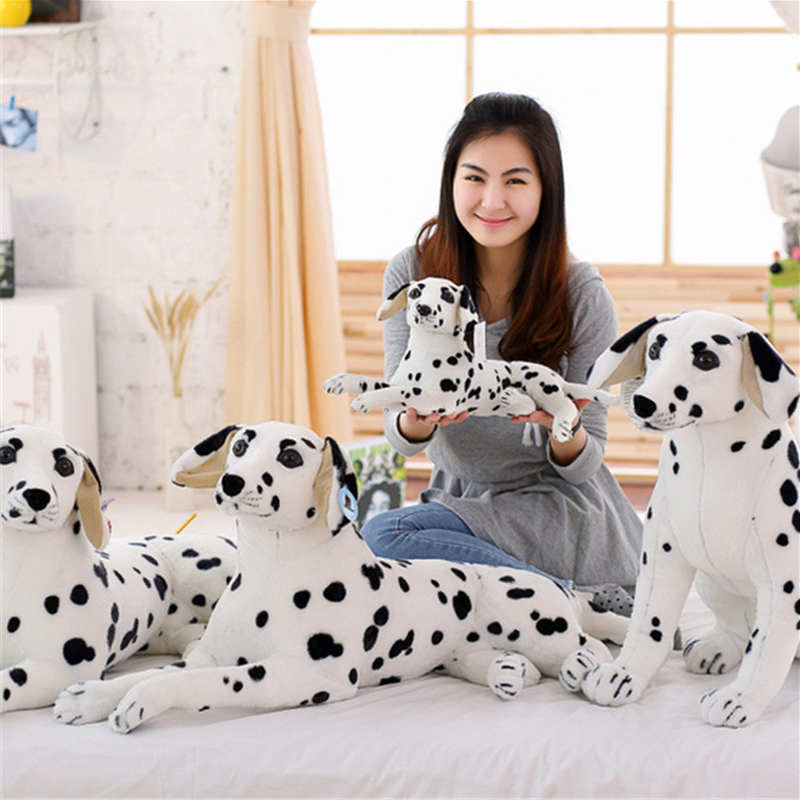 Fancytrader Large Stuffed Soft Plush Simulated Animal Dalmatians Dog Toy Giant Lifelike Dog Decoration Great Kids Gift 35inch fancytrader simulation dog toy plush soft stuffed large animal shar pei dogs doll for kids gifts