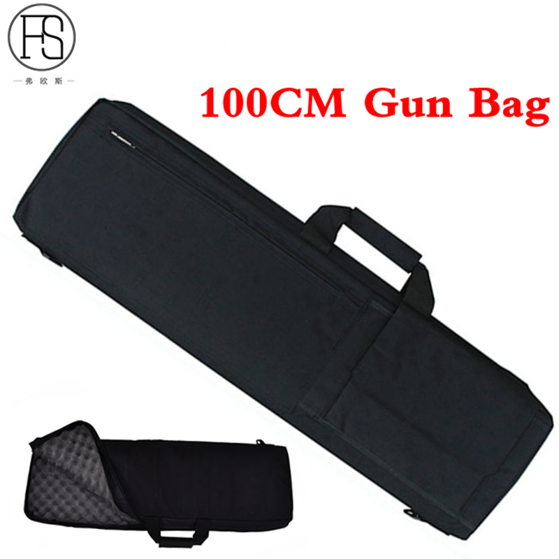 100CM Tactical Gun Rifle Carrying Case Bag Padded Backpack Heavy Duty Shockproof Pouch Gun slip Bevel Rifle Bag in Hunting Bags from Sports Entertainment