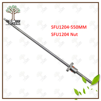 SFU1204 550mm Ball Screw Rolled C7 ballscrew SFU1204 550mm with one 1204 flange single ball nut for CNC parts (12mm 1204 )