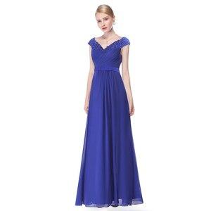 Image 4 - אמא של הכלה שמלות בתוספת גודל חדש אלגנטי קו V צוואר אפליקציות ארוך חתונת המפלגה שמלות 2020 Vestido novia מנגה