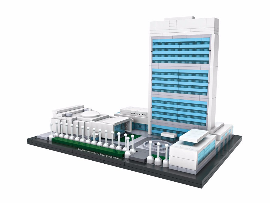 LOZ Architecture City Mini United Nations Headquarters World Famous Model Building Blocks Sets Bricks Classic Kids Gifts Toys loz lincoln memorial mini block world famous architecture series building blocks classic toys model gift museum model mr froger
