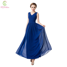 Luz szyfonowa długa, dekolt w szpic, suknia wieczorowa panna młoda wyjściowa sukienka na studniówkę Plus Size sukienki dla matki panny młodej