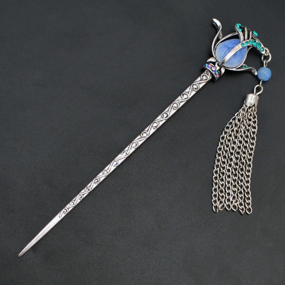 Ethnic Chinese Peacock Shape Women Casual Hair Stick Hair Jewelry Accessories