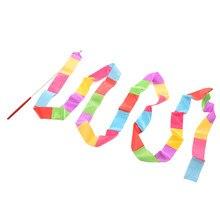 1 pièces danse ruban gymnastique rythmique gymnastique tige Art Ballet virevoltant bâtons 5 couleurs au choix 3.6m