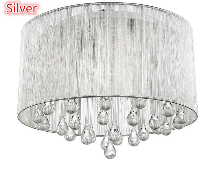 New shade crystal ceiling chandelier pendant light fixture lighting new shade crystal ceiling chandelier pendant light fixture lighting lamp led bulbs 220v 110v pink yellow black silver for home in ceiling lights from lights aloadofball Gallery