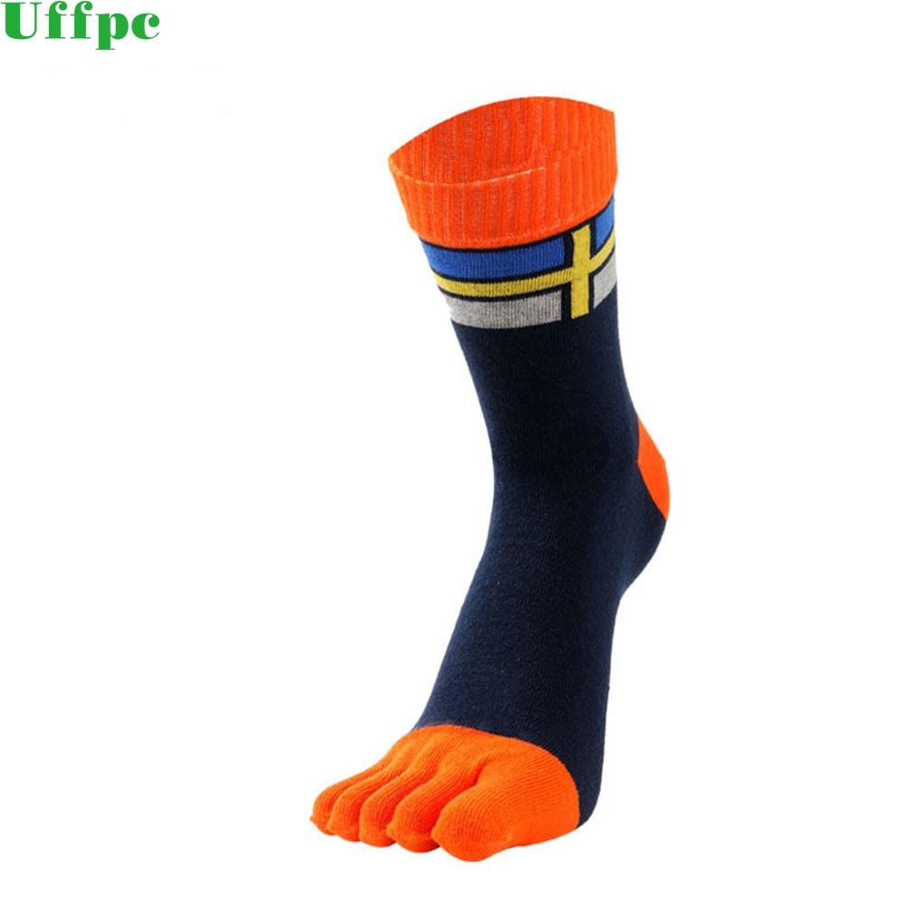 3 pairs/Lot Men Socks Cotton outfit Five Finger male Toe socks cotton tube Breathable Fitness Non Slip Socks New warm