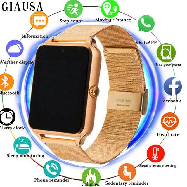 GT08 Além de Alça De Metal quente Relógio Inteligente Bluetooth Smartwatch Sim Suporte Cartão TF Android & IOS Relógio de Pulso Multi- línguas PK S8 Y1