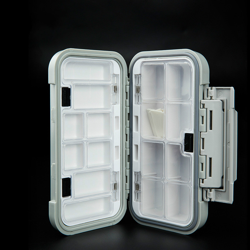 16.5x9.3x4.5cm Double layer Waterproof 16 Compartments Fishing Tackle Box