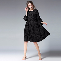 Europe and America Pregnancy Women Casual Dresses Spring and summer Loose Lace Dress Pagoda Sleeve Large Size Maternity Clothes