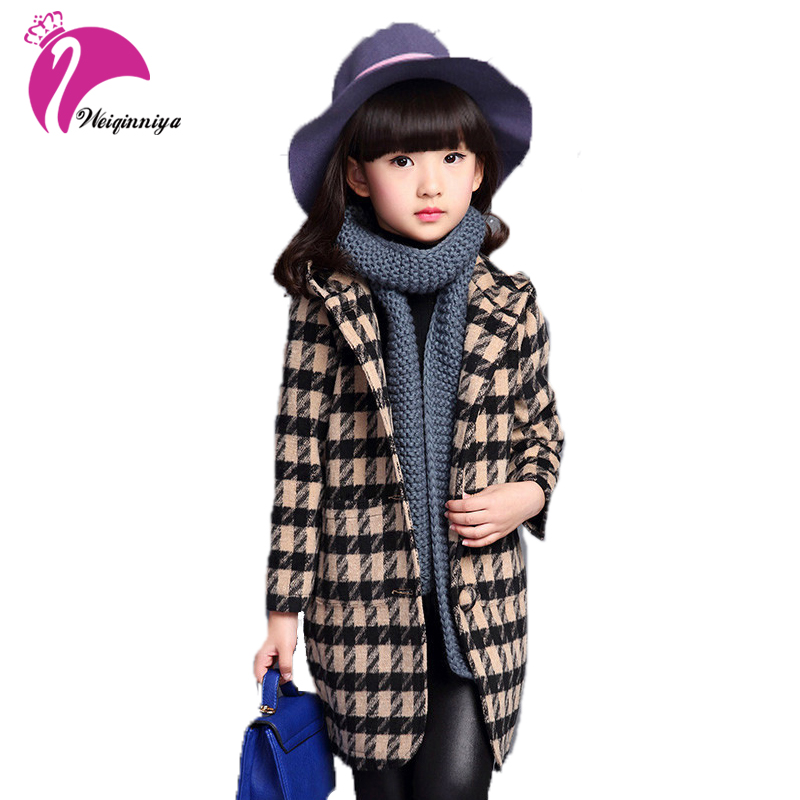 2017 New Fashion Girl Coat Girl Autumn Winter Outerwear Girls Clothes 4 12 Years Old High