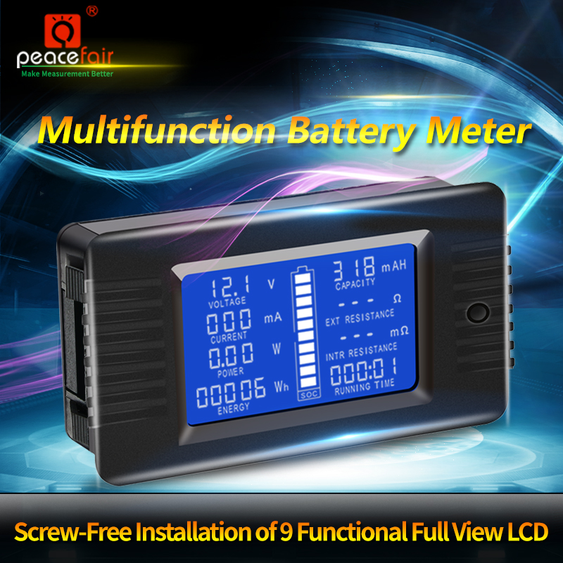 PZEM 015 0 200v 0 300A Car Battery Capacity Tester Power Energy Impedance Resistance Digital Ammeter Voltmeter Energy Meter in Battery Testers from Tools