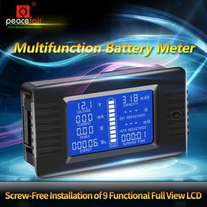 Image 4 - Peacefair Tester baterii rozładowania pojemności, moc amperomierz woltomierz licznik energii impedancja odporność PZEM 015 200v 100A bocznik