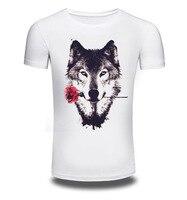 New Men/Women Summer Fashion Short Sleeve Brand Clothing T Shirt 3D Print Shirt T-shirt W Animal White T-shirts Tee AW122