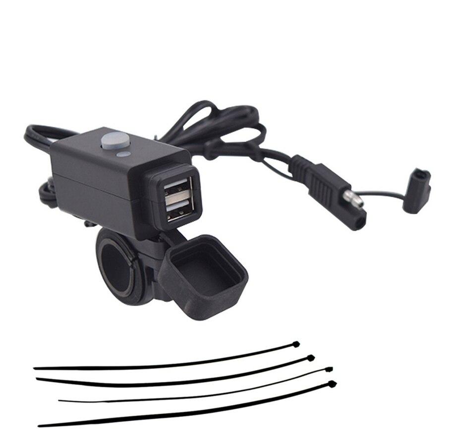 12V SAE USB Motorrad Lenker Handy PDA GPS Ladegerät mit LED ...