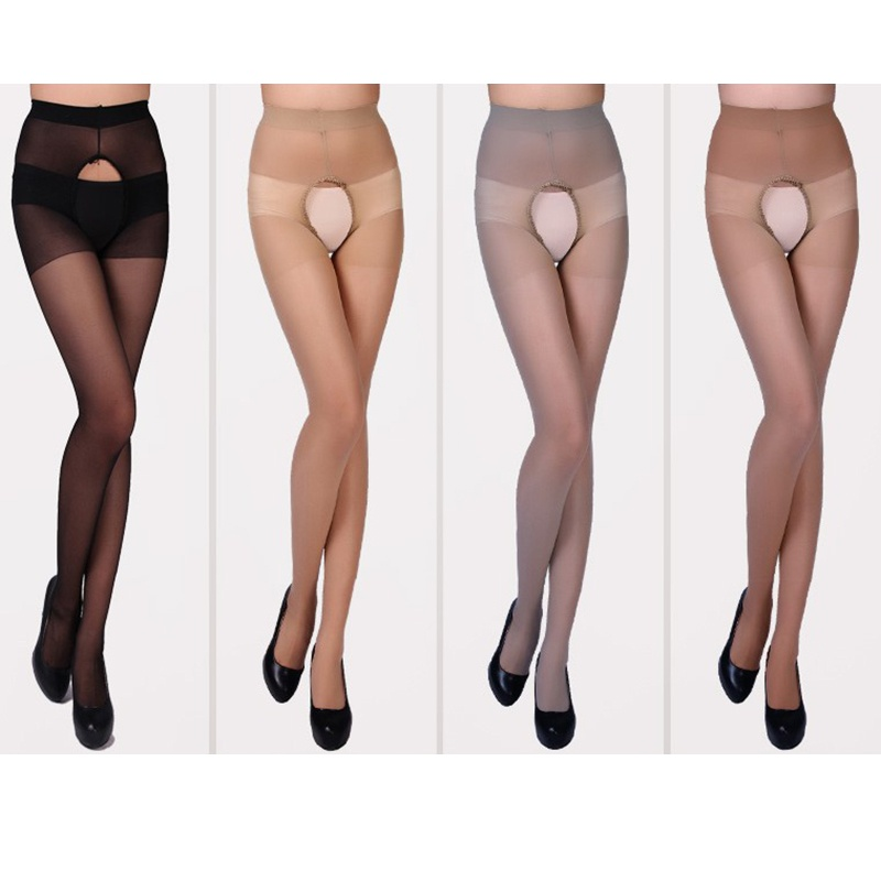 <font><b>Sexy</b></font> <font><b>Erotic</b></font> Tights <font><b>Women's</b></font> Classic <font><b>Open</b></font> <font><b>Crotch</b></font> Pantyhose Super Elastic <font><b>Sexy</b></font> Tights <font><b>lingerie</b></font> Skinny Legs Stockings 2018 image