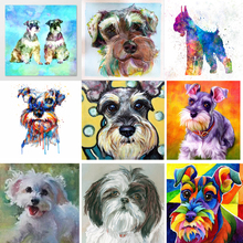 photos custom diamond painting,schnauzer puzzle Full,5d daimond Embroidery,square drill Rhinestone,Mosaic painting,Cross Stitch