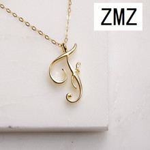 hot deal buy zmz 2018 europe/us fashion english letter pendant lovely letter f text necklace gift for mom/girlfriend party jewelry