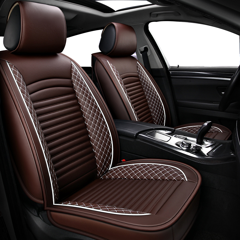 ( Front + Rear ) PU Leather car seat covers for Honda CIVIC 8 9 eg ek 4d 5d 10th 2006 - 2011 2012 2014 2007 2008 2017 2018 style