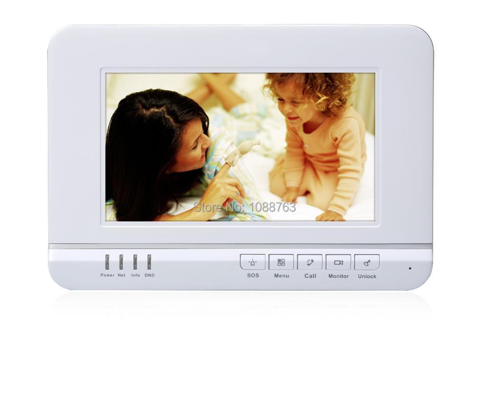 DAHUA Doorbell Camera Doorbell Intercom System Color 7-inch Color Indoor Monitor Touch screen Without Logo VTH1520A