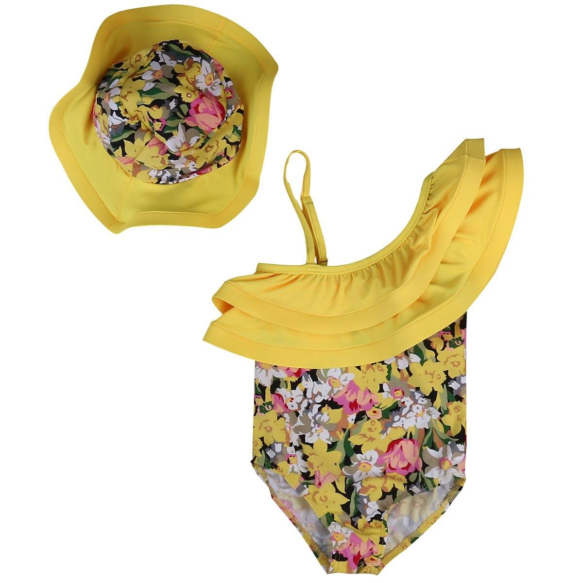 Summer Girl Baby Romper Jumper Sunsuit Bodysuit+ Hat Clothes 2Pcs Set Outfit