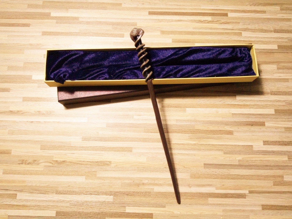 Nyaste versionen Happy Potter Movie Dean Thomas Magical Wand Cosplay Wand med låda