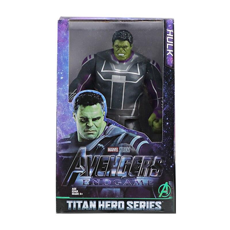 30 см Marvel Мстители игрушки танос Халк Бастер человек паук Железный человек Капитан Америка Тор Росомаха Черная пантера фигурка куклы - Цвет: New Hulk with box