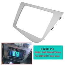 2 DIN автомобильный стерео радио gps навигационная пластина Панель рамка Fascias Замена для сиденья Леон 2005-2011 левая рука вождения LHD
