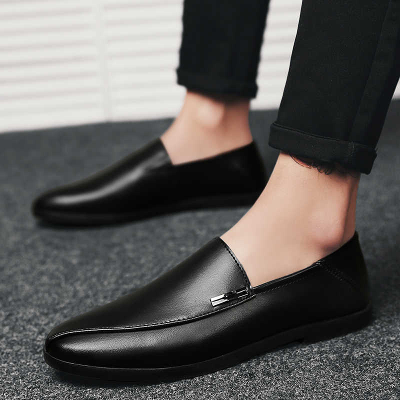 b1781f963f6 ... 2018 shoes men slip on casual men loafers outdoor mens moccasins shoes  genuine leather handmade high ...