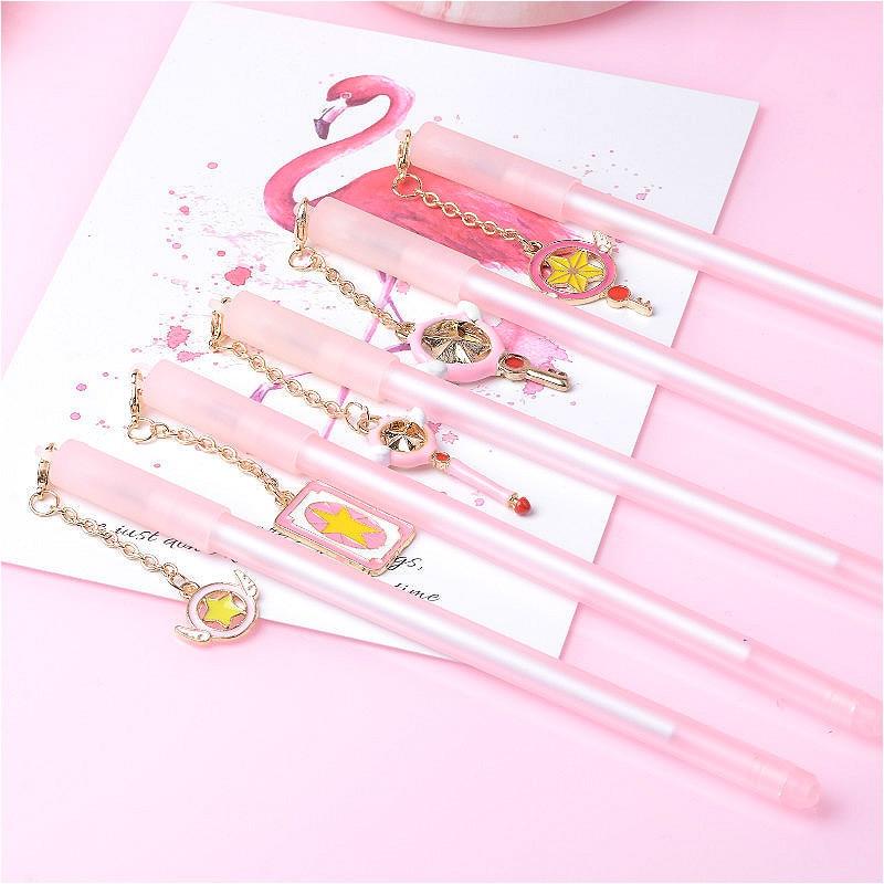 48 pcs Gel Pens Variety Sakura Magic Stick Pendant black colored gel inkpens for writing Cute