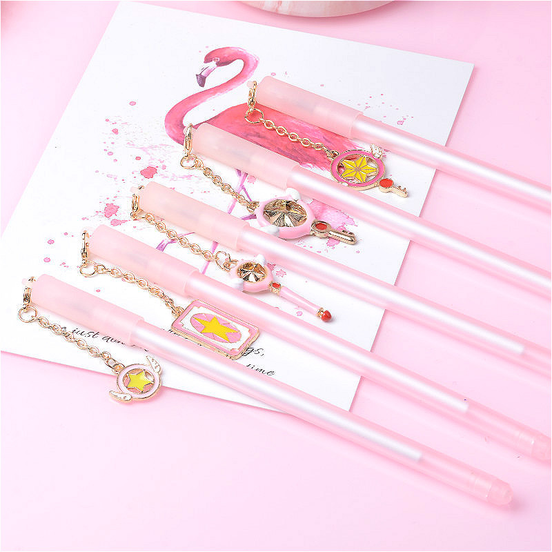 48 pcs Gel Pens Variety Sakura Magic Stick Pendant black colored gel inkpens for writing Cute stationery office school supplies-in Gel Pens from Office & School Supplies    1