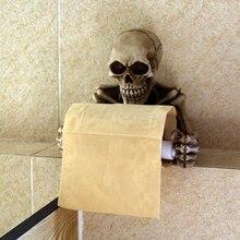 Готический Череп, держатель для рулонной бумаги, полка для салфеток, каркас, настенное крепление, Кухонное хранилище для туалетной бумаги, держатель для бумажной стойки, Декор
