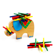 2016 New Arrival Baby Toys Educational Elephant Camel Stacking Balancing Blocks Wooden Beech Montessori Kids Birthday Gift