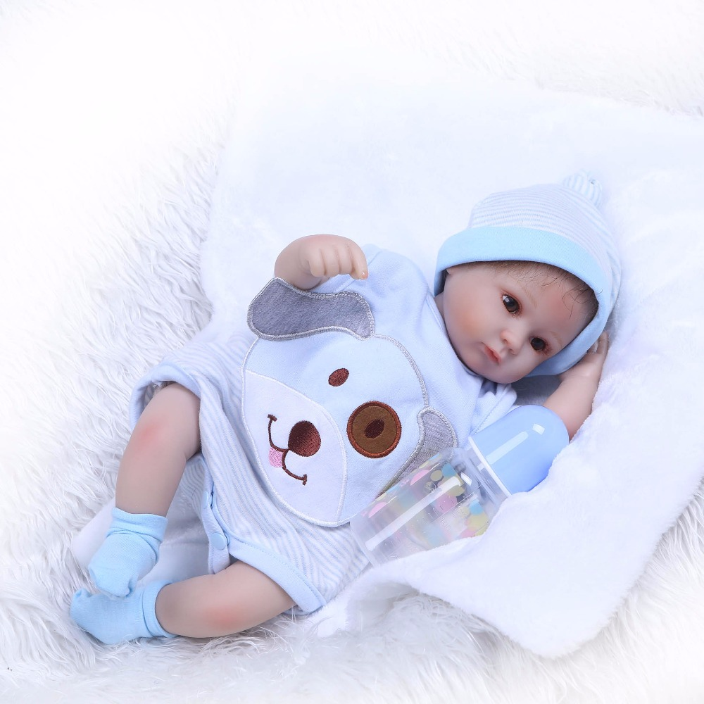 NPK 18 New arrival Handmade Silicone vinyl adorable Lifelike toddler Baby Bonecas girl kid bebe doll